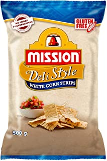 Mission Deli Style Strips, White Corn Chips, 500g