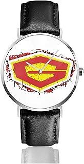 Unisex Business Casual G Force Guardian of Space Relojes Reloj de Cuero de Cuarzo