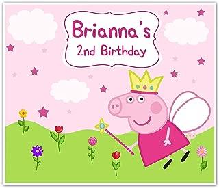Peppa Pig Fairy Birthday Banner