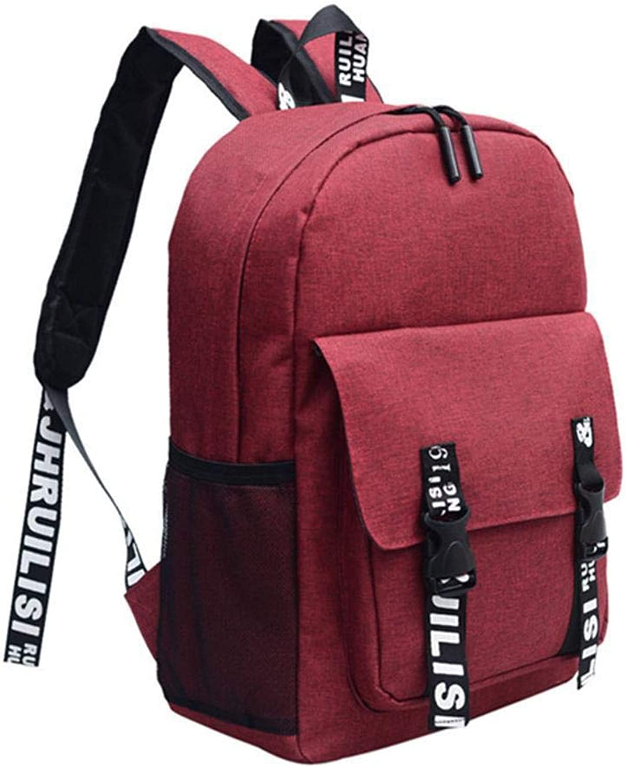 Mayanyan Korean Canvas Backpack Bag Men's College Wind Bag Trend Simple Casual Fashion Student Backpack