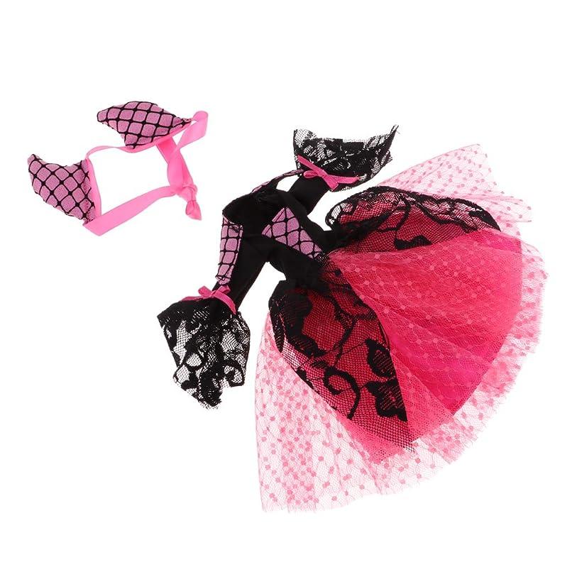 無条件組み込む大混乱1/6の女の子の人形用 ブライスドール用 ドレス スカート ドールヘアバンド ハロウィン アクセサリー