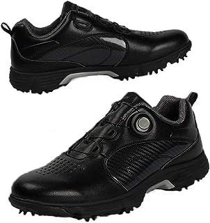 حذاء جولف رجالي من Tukoy حذاء رياضي احترافي 7 مسامير غولف مصنوع من الألياف الدقيقة