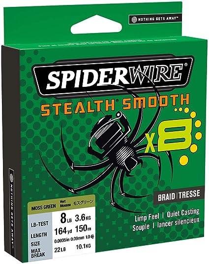 Spiderwire Ligne tress/ée Stealth Smooth 8 de 300 m.