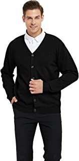Men's Casual Fit V-Neck Cotton Sweater Cardigan