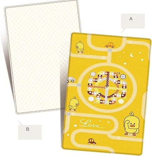 LIICC Kinder Spielmatte Baby Krabbeln Matte Cartoon Ente Baby Doppelseitige Anti-Rutsch-Multifunktions-Haushaltsbodenmatte