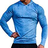 Muscle Alive Deportes Hombres Gimnasio Culturismo Sudaderas de con Capucha Fitness Chándales