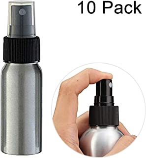 Uheng 10 Pack 3oz Aluminium Essential Oil Spray Bottles Refillable Perfume Fine Mist Atomiser Empty Beauty Metal Spray Bottles Cosmetic Pack Container travel Bottles