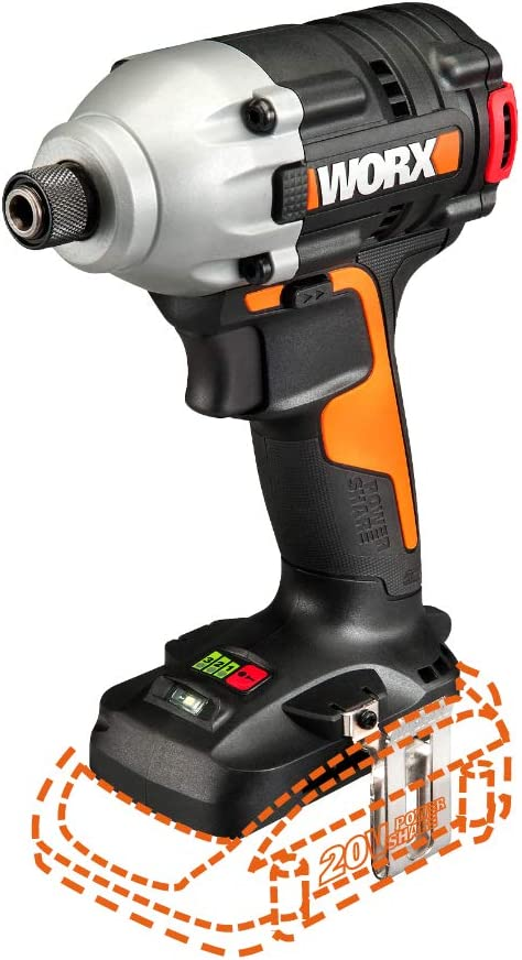 Worx WX261L.9 20V Power Share Max 80% Choice OFF Impact Only Driver Brushless Tool