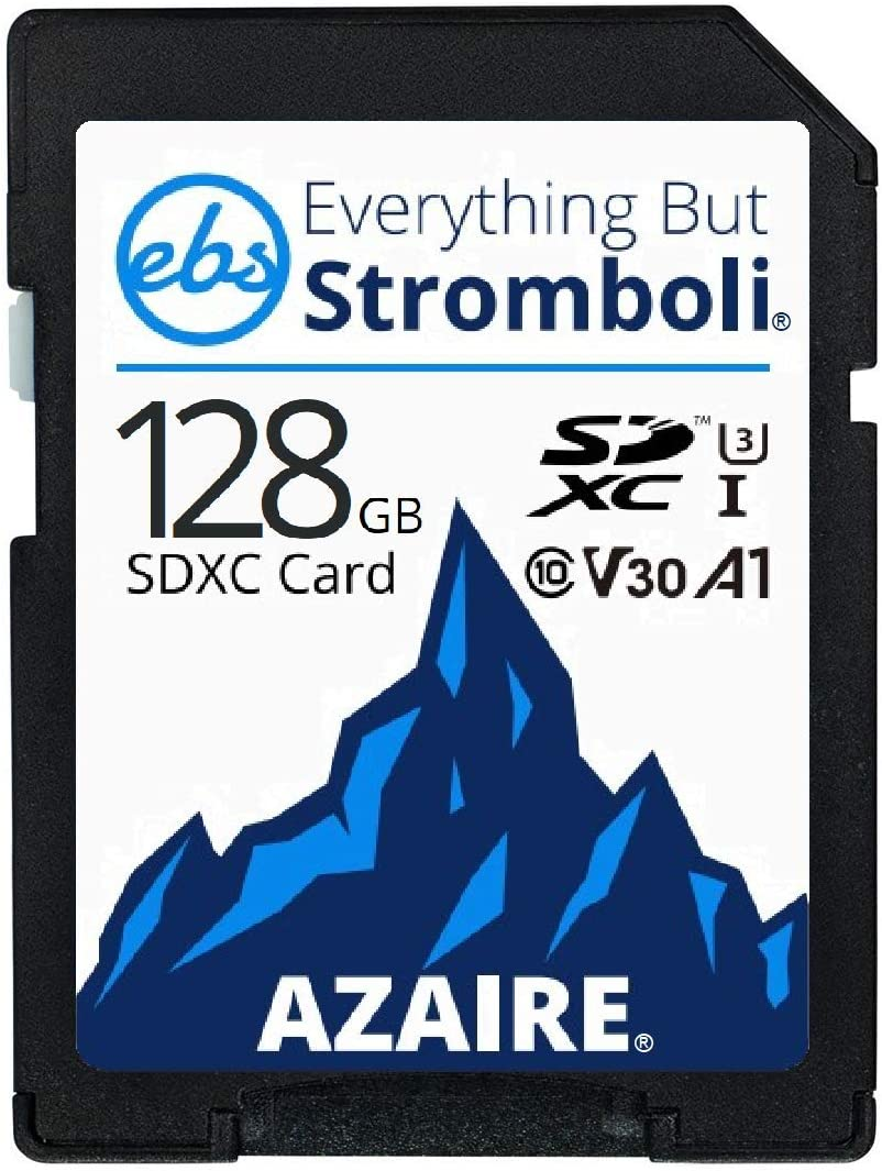 Everything But Stromboli 128GB SD Card (5 Pack) Speed Class 10 UHS-1 U3 V30 128G SDXC Memory Cards Multipack for Compatible Camera, Laptop, Video Cam