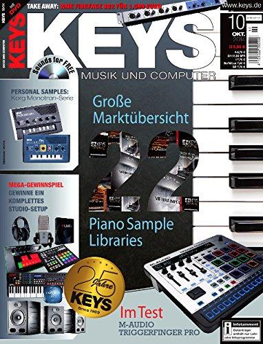 Keys 10 2014 mit DVD - Piano Sample Libraries - Korg Monotron Samples auf DVD - Personal Samples - Free Loops - Audiobeispiele