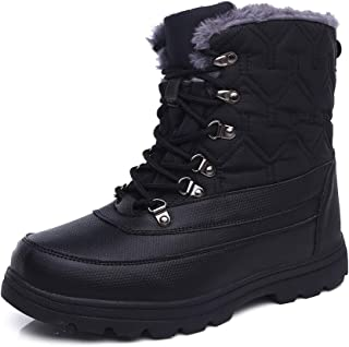 Mens Fashion Winter Shoes Snow Boots Water Resistant Warm for Men Waterproof Insulated Cold Weather Extreme Hiking for Outdoor