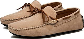 Anewsex Cow Suede Leather Men Flats Men Casual Shoes Men Loafers Moccasin Driving Shoes