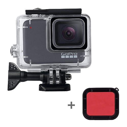 2018 6.3 inch x 4.8 inch x 2.8 inch SHOOT Camera Storage Case Small Size Action Cam for GoPro Hero 7 Black Silver White//Hero 6 5 4 3+ 3 Hero Fusion AKASO EK7000 APEMAN Campark FITFORT 4K WiFi