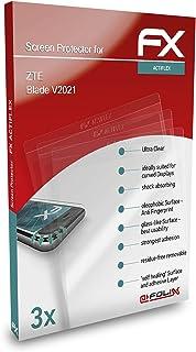 atFoliX Skärmskydd är kompatibel med ZTE Blade V2021 Film, ultraklart och flexibelt FX Skärmskyddsfilm (3X)