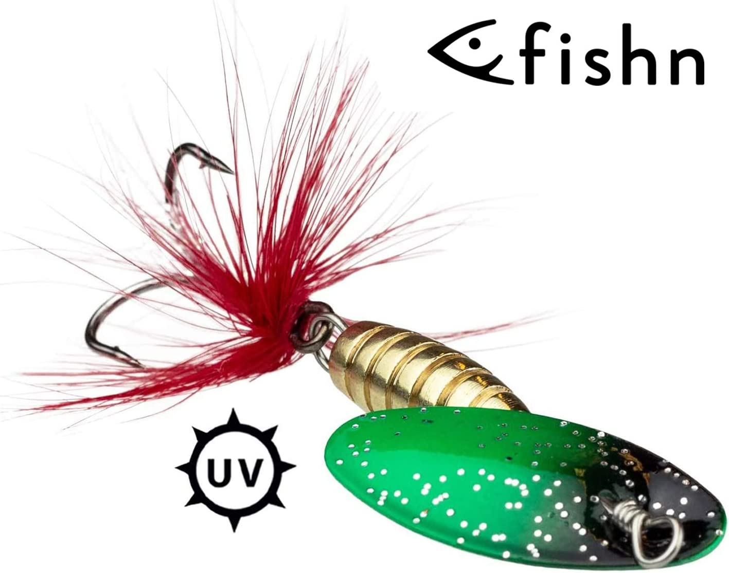 Spinner Set 3x Spinner bait Length: 5.2cm//6cm perch artificial bait for fishing for pike trout Weight: 4.2g//6.5g FISHN SpinnyOne Set