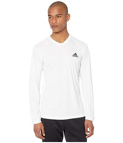 adidas UV Protect Long Sleeve Tee (White/Black/Black) Men