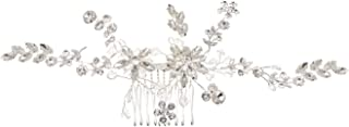 Topwholesalejewel Wedding Jewelry Silver Plating Hair Comb