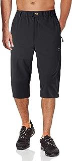 Men's Capri Pants Elastic Knee Length Shorts 3/4 Shorts Quick Dry Multi-Pockets Cargo Capri Shorts