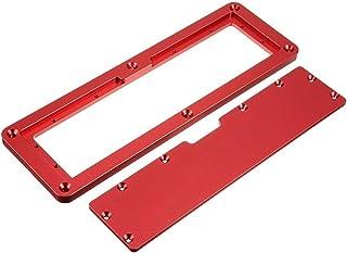 Elektrisk cirkelsåg Flip Skal Platta Flip-Floor Table Särskild täckplatta Justerbar aluminiuminsatsplatta för bordsåg (Col...
