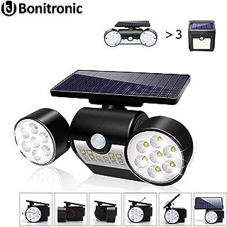 UK BONITOYS Solar Lights Outdoor, Solar Motion Sensor Lights Outdoor 360-Degree Rotatable, 30 LED Solar Lights Waterproof IP65 for Garden Backyard Garage Patio