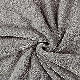 Teddy Plüsch Kuschel grau — Meterware ab 0,5m — zum