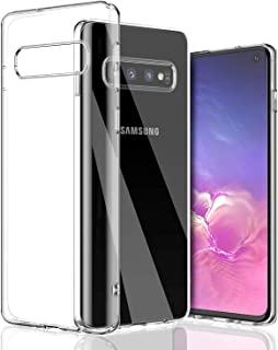 for Galaxy S10 Case, S10 Clear Case, SHAMO'S [Crystal Clear] Case [Shock Absorption] Cover TPU Rubber Gel [Anti Scratch] Transparent Clear Back Case, Soft Silicone, TPU (Clear)