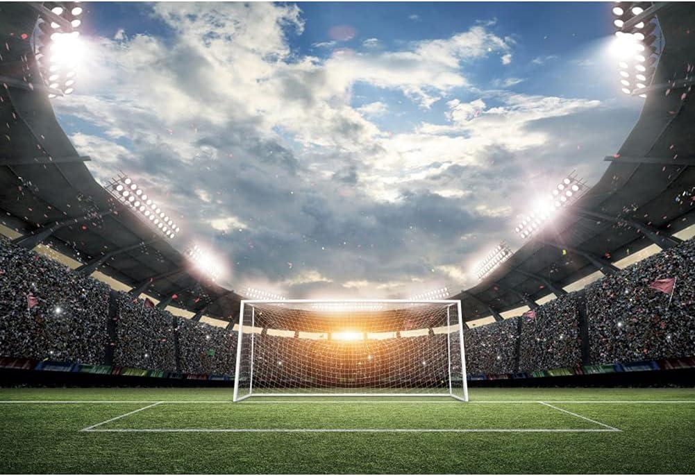 Very popular half Haoyiyi 5x3ft Football Field Backdrop Soccer Stadium Sport Green
