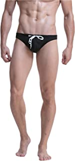 Meerway Swimming Short Trunks Surfing Sexy Men's Swimming Briefs with Adjustable Drawstring