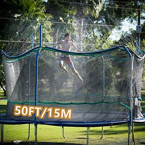 Trampoline Sprinkler For Kids Outdoor Trampoline Water Sprinkler For Kids And Adults Made To Attach On Safety Net Enclosure