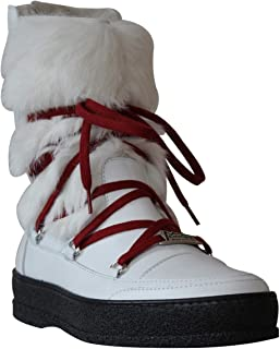 Ammann-FALL SALE-Chamonix-White Leather/White Rabbit Fur -Euro 38 / US 7.5 MSRP $430.00