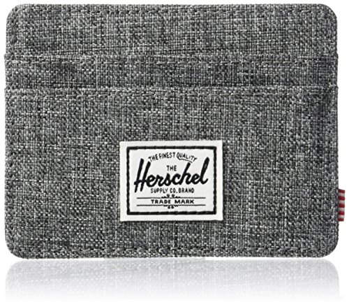 Herschel Supply Charlie RFID Billetera Tipo Tarjetas, Raven Crosshatch, Taille Unique para Hombre