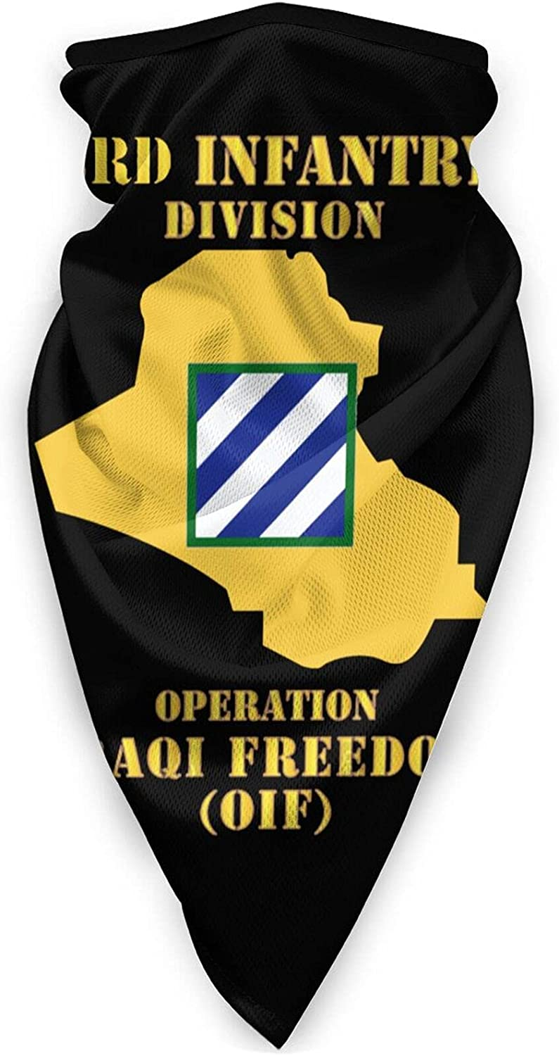 3rd Infantry Division OIF Map Windproof Sports Neck Gaiter Scarf Multifunction Balaclava