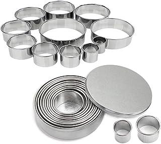 Pâtisserie Emporte pièces Cercle 11 Tailles Différentes pour Biscuits Cutter Rond pour la Pâte Cercle pour Biscuits Pâtes,...