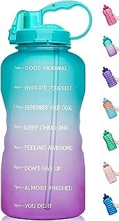 Grand Sports bouteille d/'eau 1 Gal environ 3.79 L Exercice Gym Camp hydratation avec le temps Marqueur