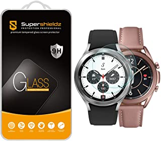 (2 Pack) Supershieldz Designed for Samsung Galaxy Watch 3 (41mm) and Galaxy Watch (42mm) Tempered Glass Screen Protector, ...