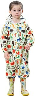 Kids Rainsuit Raincoat Waterproof Jumpsuit - Coverall Rainwear All-in-One Rain Jackets Children Reusable Rain Coat Slicker...