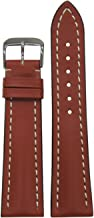 22mm RIOS1931 for Panatime Cognac Genuine Soft Calf Leather Breitling Style Watch Strap with White Stitching 115/83 22/18