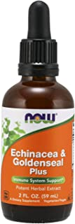 NOW Supplements, Echinacea & Goldenseal Plus with Dropper, Immune System Support*, 2-Ounce