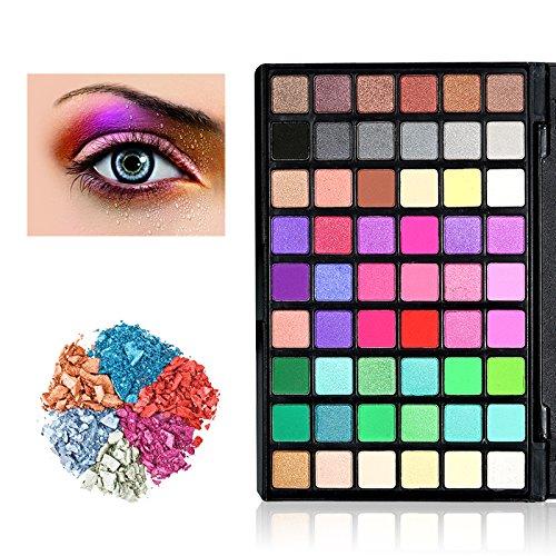 54 Farben Lidschatten Palette Makeup Eyeshadow, KRABICE Nudetöne Augenpalette Kosmetische Matte...