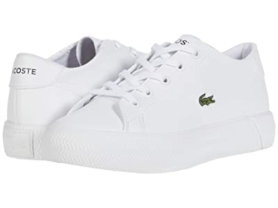 Lacoste Kids Gripshot 0120 2 CUC (Little Kid) (White/White) Kid