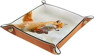 Vockgeng Dauphin Mignon Boîte de Rangement Panier Organisateur de Bureau Plateau décoratif approprié pour Bureau à Domicil...
