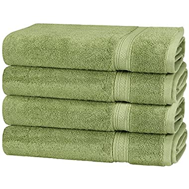 Utopia Towels 700 GSM Cotton Large Hand Towels (Sage Green, 4-Pack,16 x 28 inches) - Multipurpose Use for Bath, Hand, Face, Gym and Spa