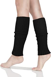 80s Women Knit Leg Warmer Ribbed for Party Sports