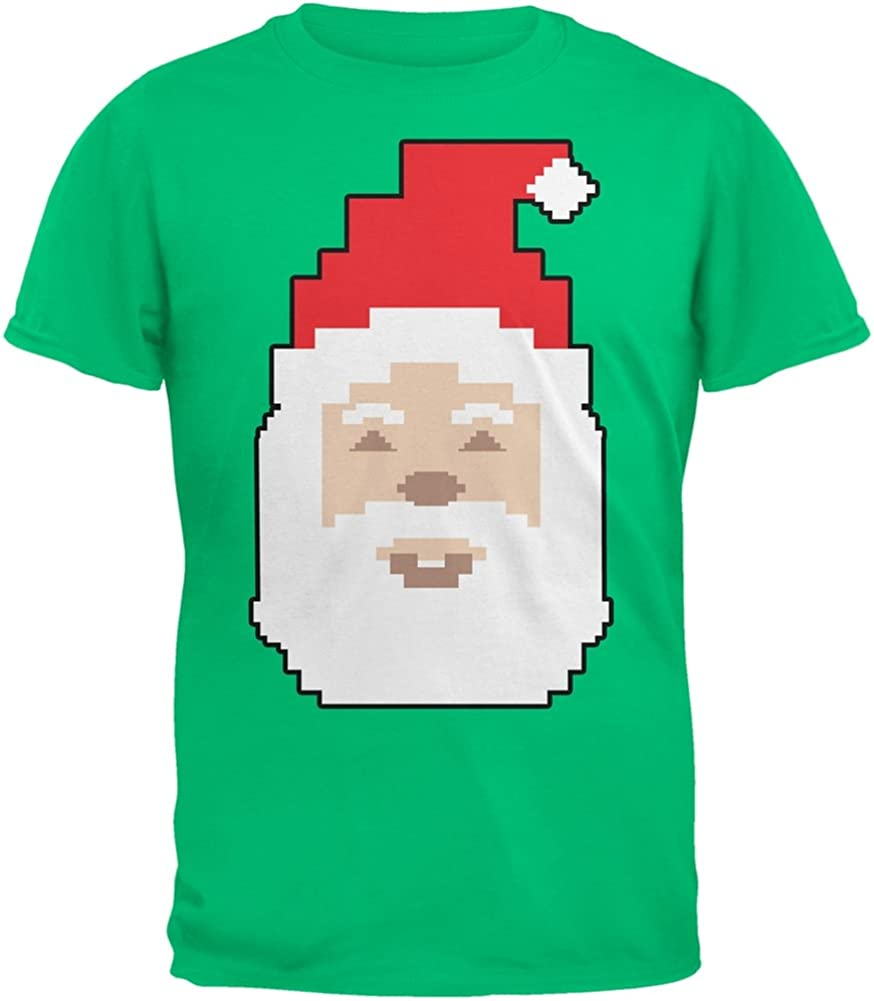 Old Glory 8 Bit Santa Green Youth T-Shirt