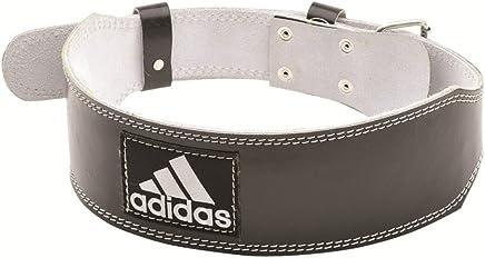 Adidas Unisex Adult Adgb-12234 Leather Lumbar Belt, Grey, One Size