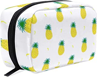 Toiletry Bag Fruity Pineapple Womens Beauty Makeup Case Brush Cosmetic Organizer