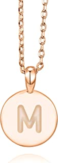 14K Rose Gold Plated Letter Necklace for Women   Gold Initial Necklace for Girls