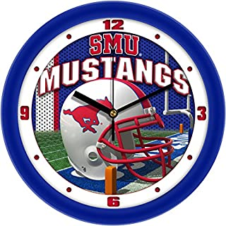 NCAA Southern Methodist University Mustangs Helmet Wall Clock
