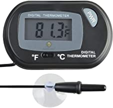 SunGrow LCD Digital Betta Thermometer, 2.3×1.5 Inches, Accurately Reads Tank Water..