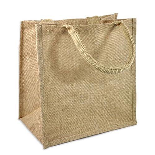 Natural Burlap Tote Bags Reusable Jute Bags with Full Gusset (Pack of 6) ( bdf8c6c263fe3